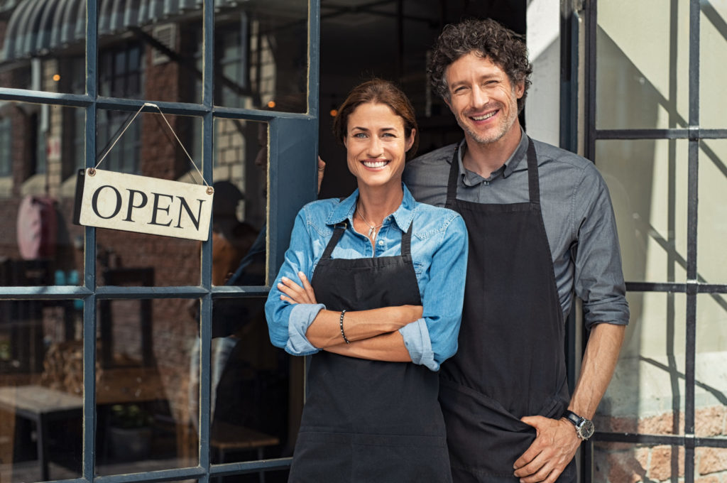 Blog - Small business owners couple